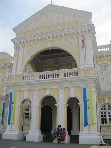 Town Hall in George Town's colonial district