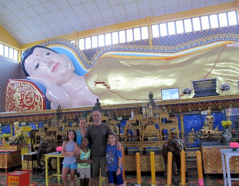Wat Chayamangkalaram - one of the largest reclining  buddha statues in the world (33 metres)