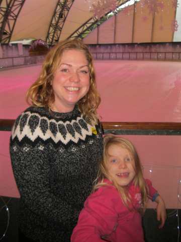 Ceri and Vita about to take the ice at the Eden Project